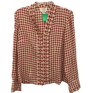 Talbots Houndstooth Blouse
